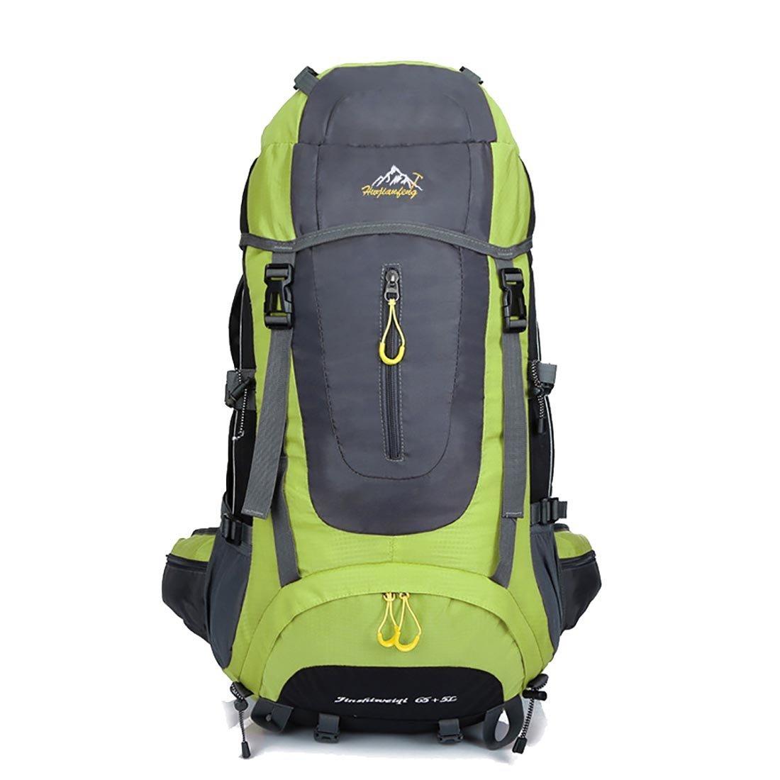 Stimmt Largeハイキングバックパック、65l内部フレームバックパックハイパフォーマンスLargeバックパックメンズレディース登山バッグハンティングバッグ  グリーン B07G4F5878