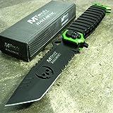 MTECH Ballistic GREEN SAWBACK Tanto Skull Spring Assisted Open Pocket Knife NEW