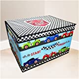 Jumbo Large Toy Book Bedding Laundry Kids Childrens Storage Box Chest - Grand Prix