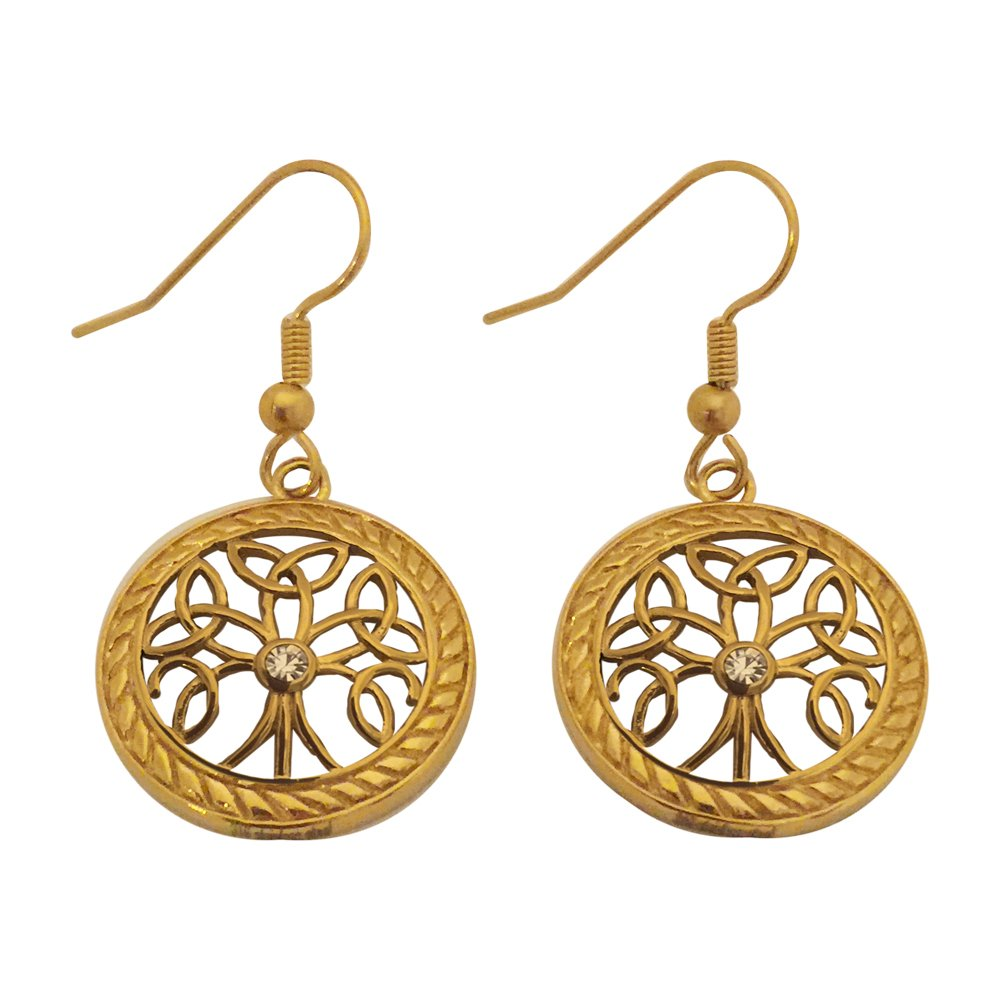 Gold Celtic Tree of Life Earrings