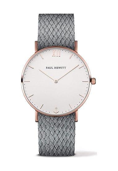 Paul Hewitt Reloj Sailor Line White Arena IP oro rosa 39 mm perlón gris 250 mm Ph de SA de R De St de W z30-a-18 m: Amazon.es: Relojes