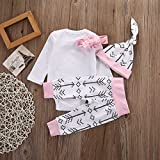 Newborn Girls Clothes Baby Romper Outfit Pants Set Long Sleeve Winter Clothing (0-6months)