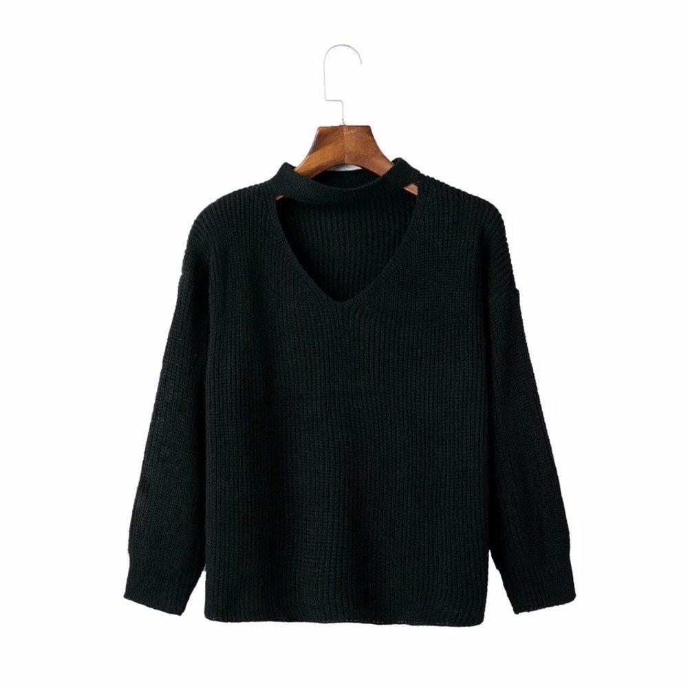 MAGUBA New Arrival Girls V-Neck Full Sleeve Halter Sweater
