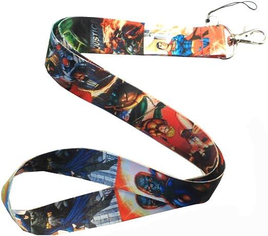 Justice League Comic Lanyard Black