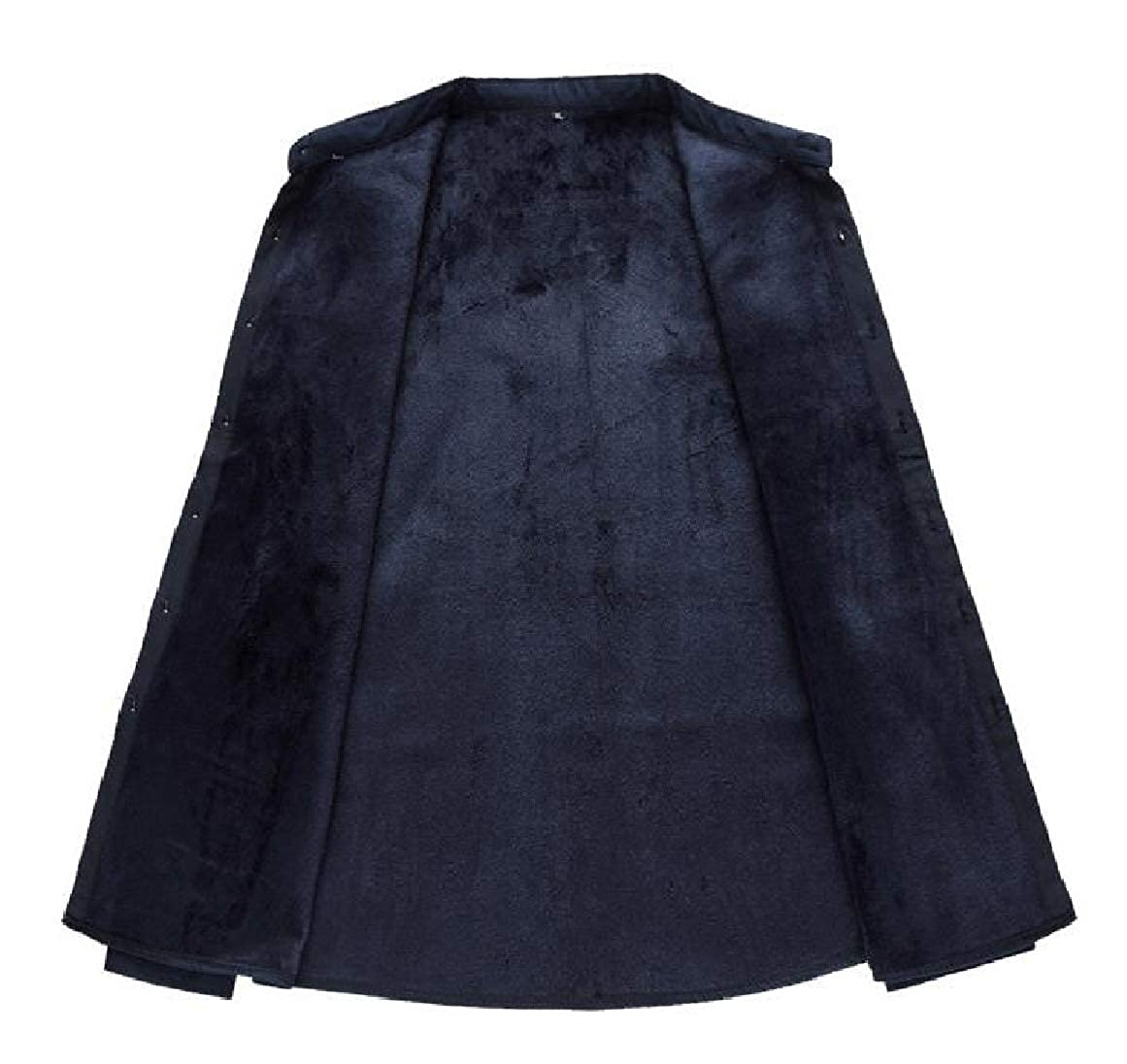 RingBong Mens Plus-Size Chinese Style Plus Velvet Thicken Long-Sleeve Patterned Shirt