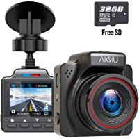 AIQiu Dash Cam with 32GB SD Card 1296P FHD Mini Car Driving Recorder (Night Vision)