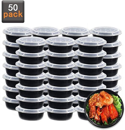 Amazon.com: Paquete de 50 recipientes de plástico para ...