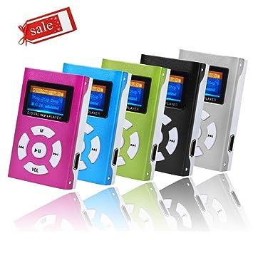 Jintime - Reproductor de MP3 (USB, tarjeta micro SD TF, 32 ...