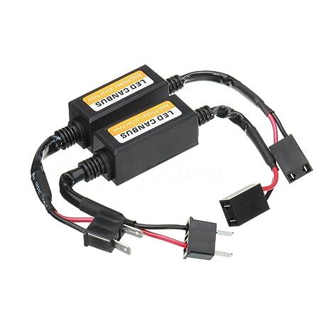 Kit de conversión de las bombillas H7 LED para faros delanteros, de 80 W, 6000 K, ...