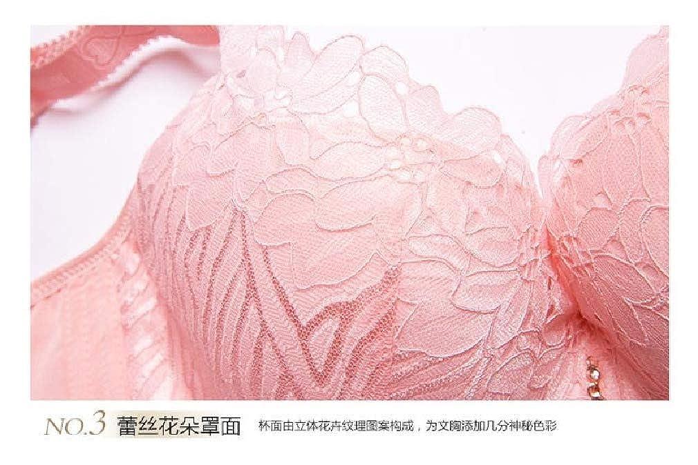 Bra 38F Flower Design No-Wire Peach