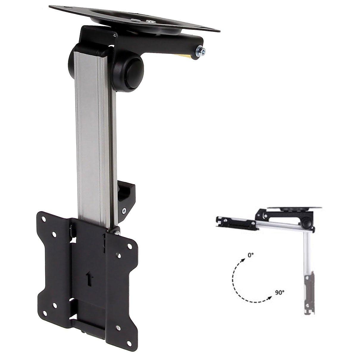 m tilt folding to dp mount amazon mounting for down monitors vivo ceiling flip under tv manual pitched com lcd flat roof cabinet