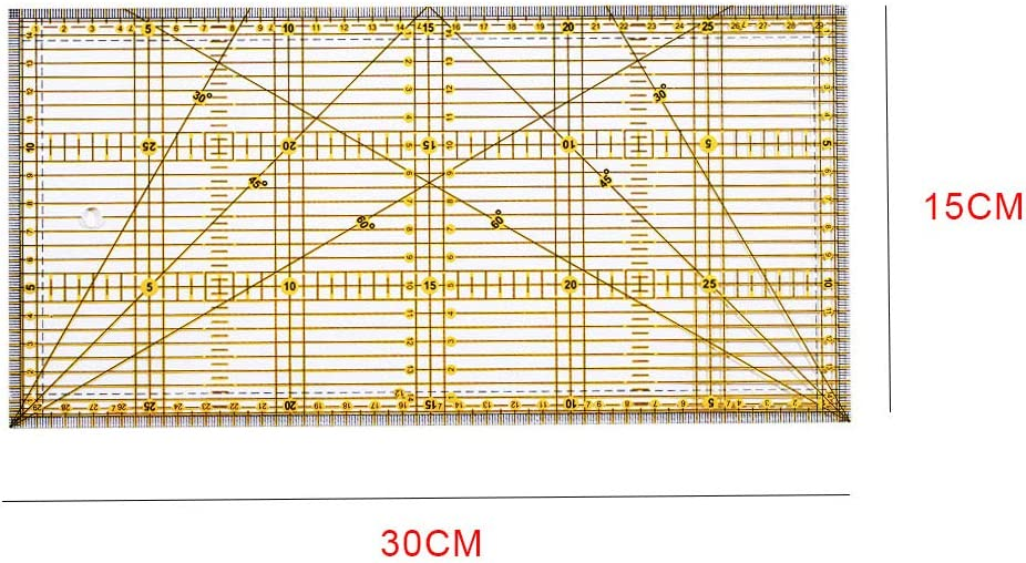 Rectangular Quilting Ruler Sewing Meauring Template Acrylic Fabric Crafting High Precision Clear Seam Ruler