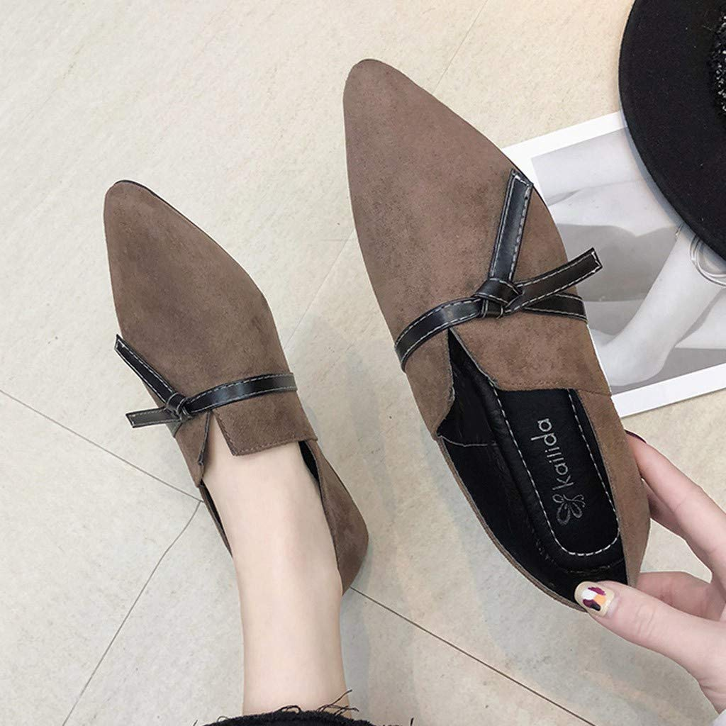 Fitfulvan Casual Single Shoes Female Bow Flat Shoes Pointed Irregular Shallow Mouth Fashion Student Shoes