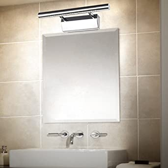 ELINKUME 3W LED Spiegel Licht Warmweiß 12 LEDs SMD5050 Edelstahl 180 °  Winkel Verstellbar LED Badezimmer Wandleuchte