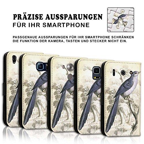 Wallet Book Style Flip Handy Tasche Case Schutz Hülle Schale Motiv Etui für Apple iPhone 4 / 4S - Design Flip MV248