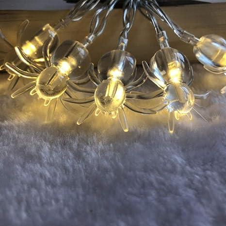 Cuerda de luz de batería de araña led para celebrar ...