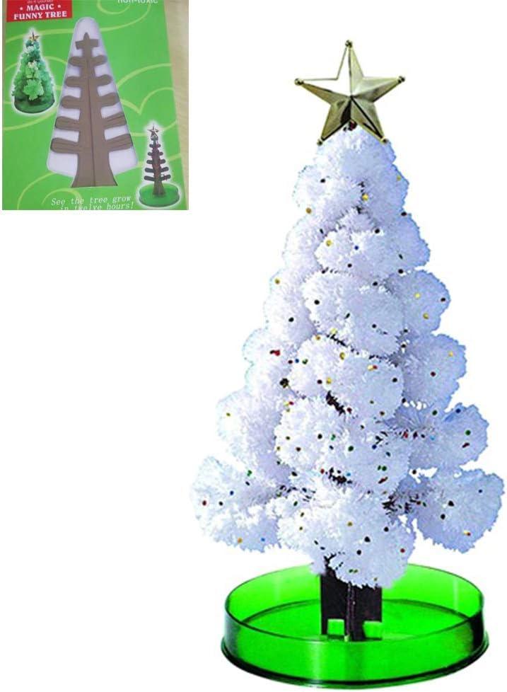 Mwergkou Christmas Tree Magic Growing DIY Magic Growing Tree Your Own Fun Xmas Gift Toy for Family