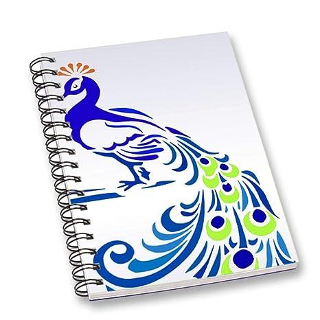 Amazon.com: RADANYA - Cuaderno con diseño de pavo real y ...