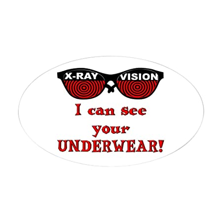 Cafepress retro x ray spex oval sticker oval bumper sticker car decal