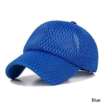Likai Gorra de béisbol Transpirable de Malla de Color sólido ...