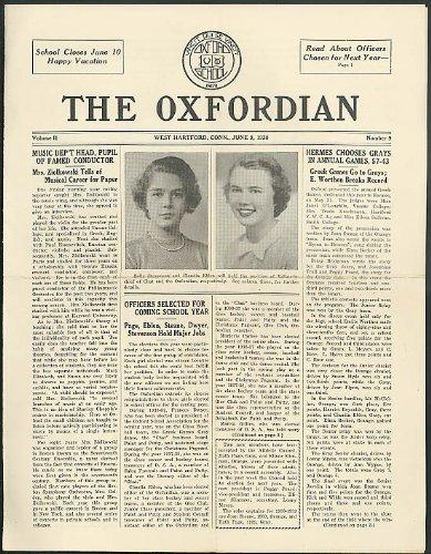 Oxford Girls School THE OXFORDIAN 6/9 1938 issue