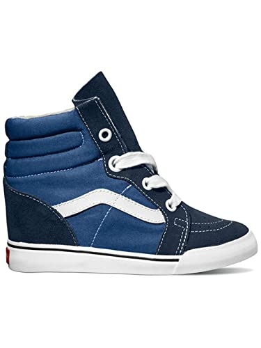 a310c0281d Vans Sneakers Women Sk8-Hi Wedge Sneakers Navy True White  Amazon.co ...