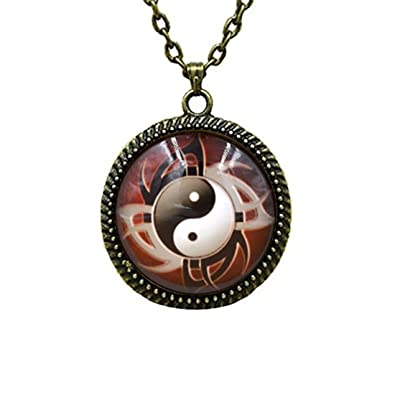 Fashion Jewelry Charm Steampunk Heart Photo Cabochon Glass Bronze Chain Pendant Necklace Gift Jewelry & Watches