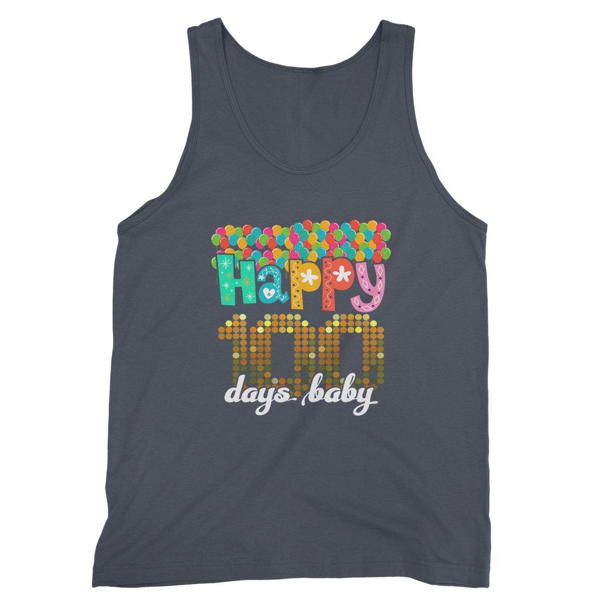 RedStar Mart Happy 100th Day of School Tanktop Days Baby