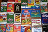 100 OLD FOOTBALL CARDS ~ SEALED WAX PACKS ESTATE SALE WAREHOUSE FIND!