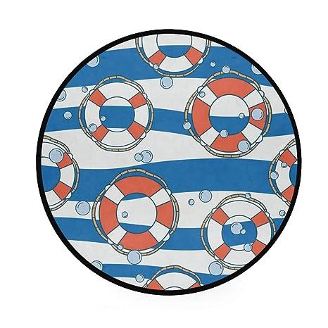 Lifebuoy Alfombra redonda antideslizante para zona náutica ...