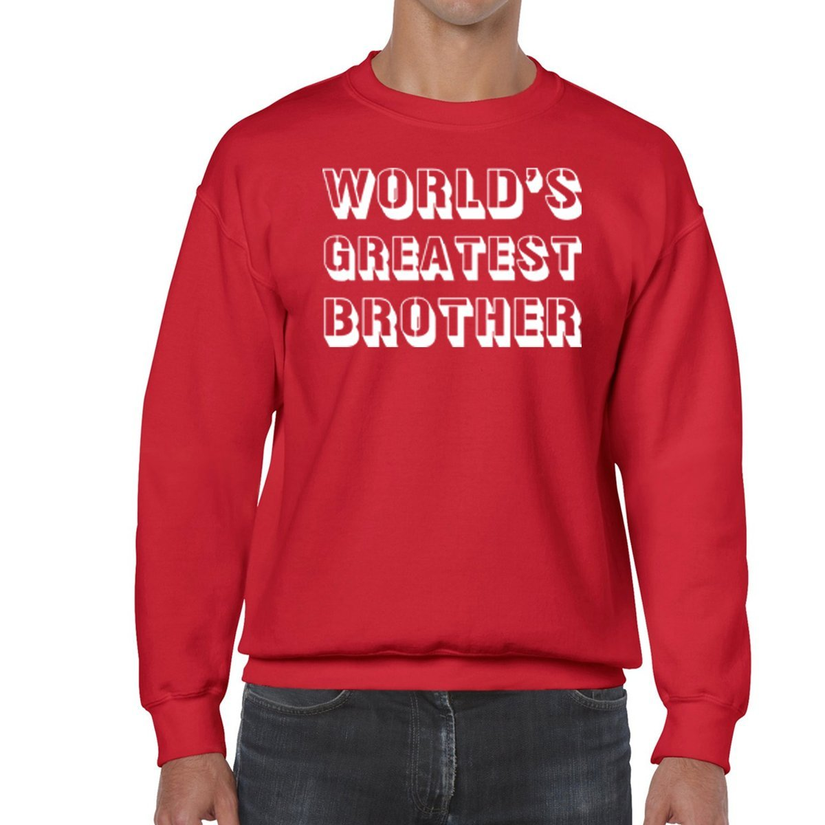 Amazon.com: AW Fashions Galaxys Greatest Brother - Best Bro Unisex Crewneck Sweatshirt: Clothing
