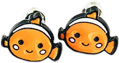 Chibi Nemo de Buscando a Nemo Stud Pendientes con caja de ...