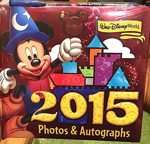 Walt Disney World 2015 Photo Album Autograph Book with Pen