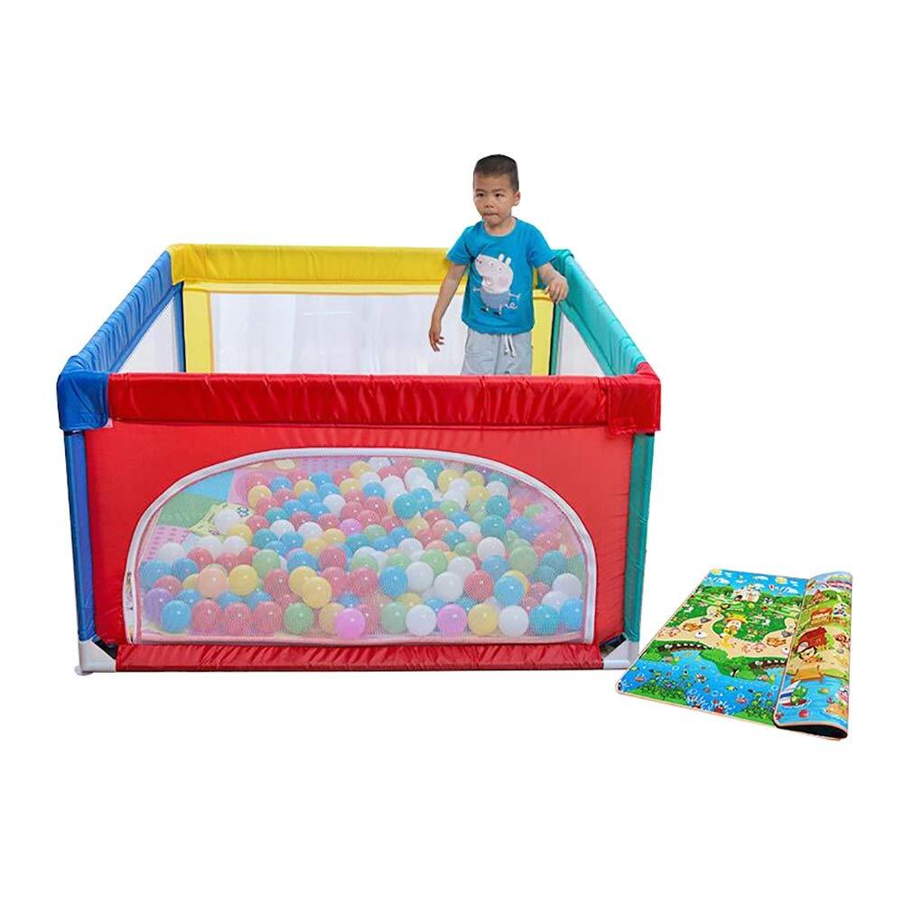 【はこぽす対応商品】 Playpen - 子供の安全フェンス さいず、スチールパイプ、子供の赤ちゃん屋内屋外の安全ゲームPlaypenフェンス、パッドと100のボールを持つルームディバイダー (サイズ さいず : : Playpen 120×120cm) 120×120cm B07JVXR31R, フジマルツ醤油:9f82a9f4 --- a0267596.xsph.ru