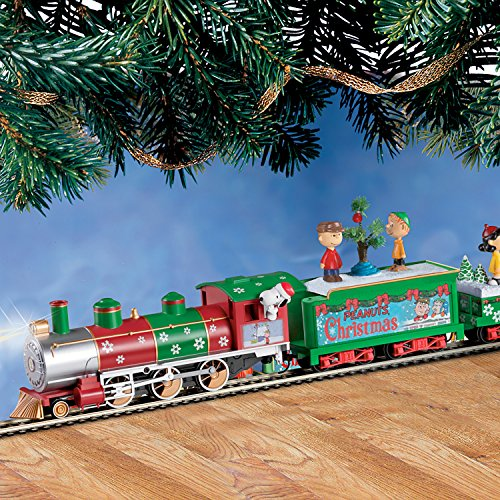 The PEANUTS Christmas Express Electric Train Set by Hawth...