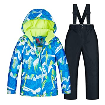 6f5c84998 Wanlianer Chaqueta de esquí Infantil Invierno Engrosamiento cálido Traje de  esquí para niños Traje de niños