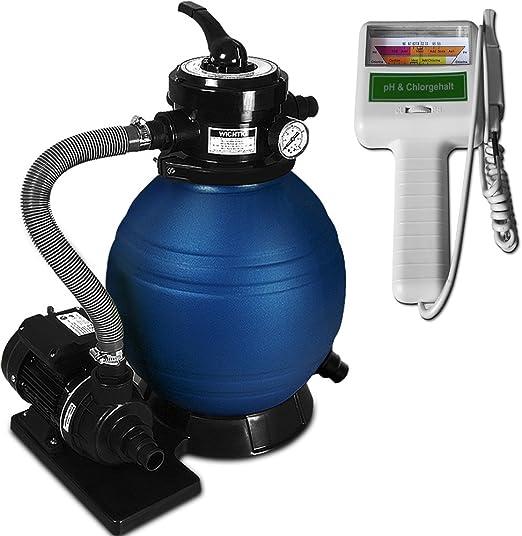 Deuba Depuradora 10.200 l/h bomba de filtro de arena con válvula ...