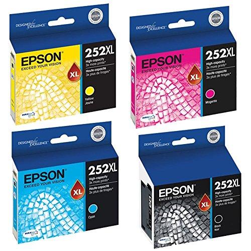 Speedy Inks - OEM Epson 252XL Muiltipack T252XL DURABrite Ink T252XL120 T252XL220 T252XL320 T252XL420