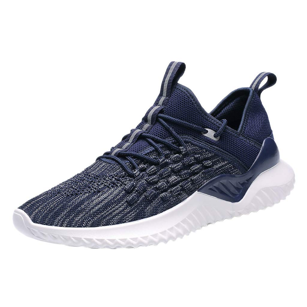 JJLIKER Men's Breathable Fashion Walking Sneakers Lightweight Athletic Tennis Running Trainer Shoes