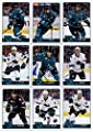 2016-17 O-Pee-Chee Hockey San Jose Sharks Team Set of 19 Cards in Protective Snap Case: Brent Burns(#21), Joe Thornton(#68), Joel Ward(#80), Justin Braun(#98), Paul Martin(#143), Roman Polak(#153), Joonas Donskoi(#173), Brenden Dillon(#186), Nick Spaling(
