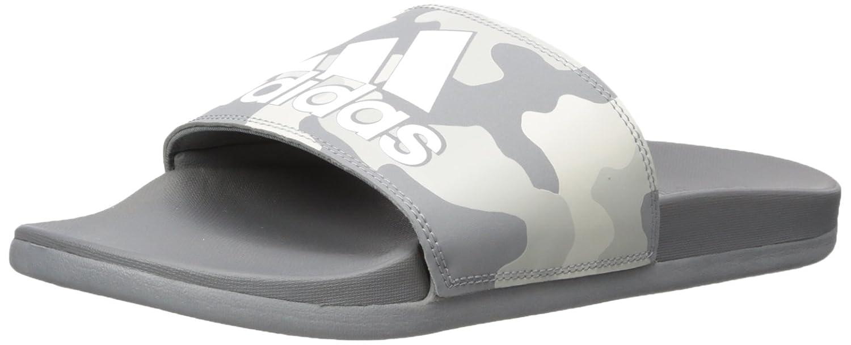 adidas Men's Adilette Cf+ Link Gr Sport Sandal B075QGBMR3 13 D(M) US|Grey Three Fabric, Ftwr White, Grey Two Fabric