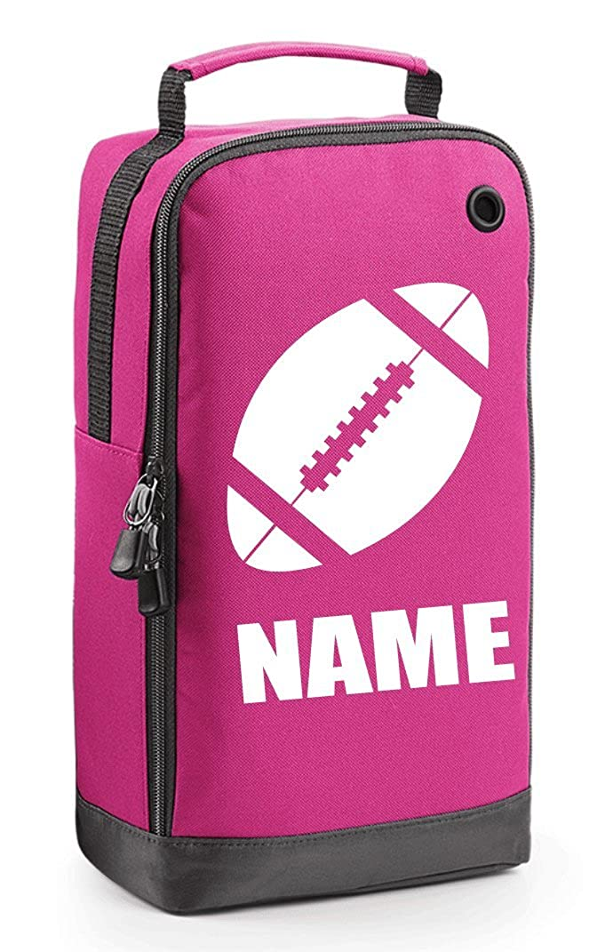 Personalised Rugby Boot Bag with Carry Handle - Rugby Ball Themed - (PLEASE GO TO ADD GIFT OPTION BEFORE CHECKOUT....ENTER NAME & COLOUR IN FREE GIFT MESSAGE SECTION.... AND SAVE) BG540_RUGBY01