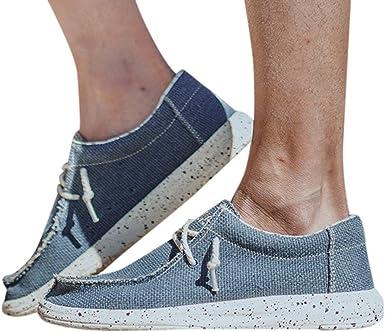 Hombres De La Lona Zapatillas De Deporte Casuales De Placas De Peso Ligero Calzado Deportivo Casual Zapatos Perezosos Shoes Lino Calzados De Lino Pescador JORICH (Azul, EU:43 27.5cm/10.8
