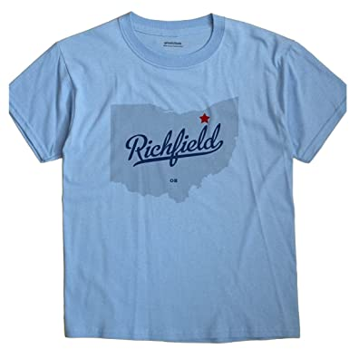 Greatcitees Richfield Ohio Oh Summit County Map Unisex Souvenir T