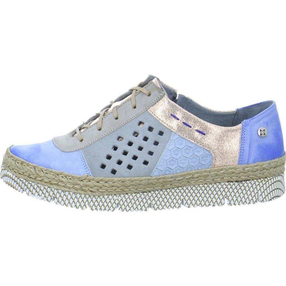 Maciejka Zapatos de Cordones de Piel Para Mujer 41 EU Azul
