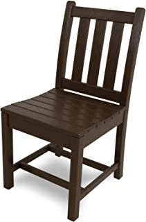 product image for POLYWOOD TGD100MA Traditional Garden Dining Side Chair, Mahogany