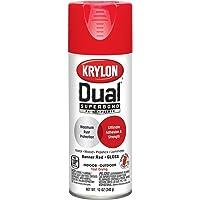 Krylon K08803007'Dual' Superbond Paint and Primer, Gloss Banner Red, 12 Ounce