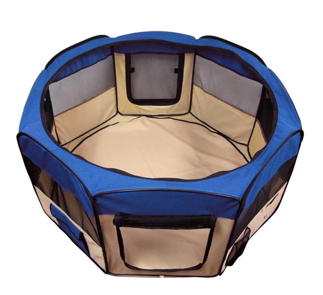 Azul mascota tienda ejercicio, Parque de juegos perro Crate XS por bestpet: Amazon.es: Productos para mascotas