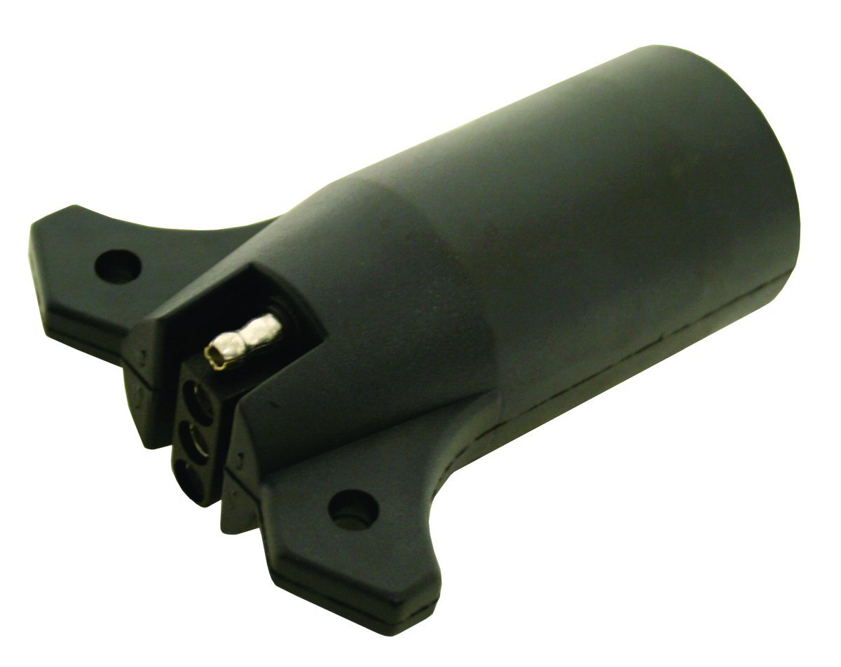 Invincible Marine Trailer Wire Adapter, 7-Round to 4-Flat