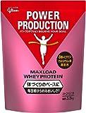 グリコ パワープロダクション マックスロード ホエイプロテイン ストロベリー味 3.5kg【使用目安 約175食分】たんぱく質含有率70.3%(無水物換算値) 8種類の水溶性ビタミン、カルシウム、鉄配合